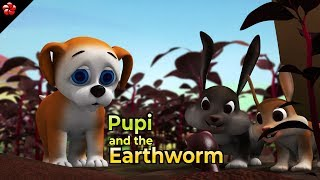 Pupi and Earth worm ♥ HD Pupi3 malayalam childrens story