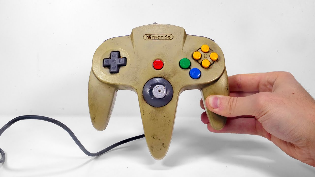I Restored Yellowed Nintendo 64 Controller with Broken Joystick - Console Restoration