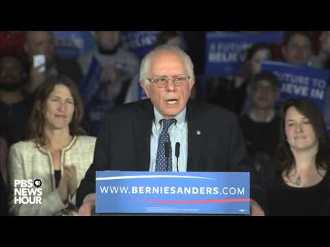 Watch Bernie Sanders' full speech after Iowa caucuses