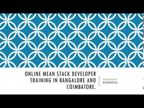 Online Mean Stack Developer Training in bangalore and  coimbatore-etcoe.in