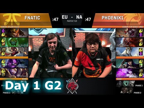 Fnatic vs Phoenix1 | Day 1 of NA vs EU Rift Rivals 2017 LoL | FNC vs P1 #RiftRivals