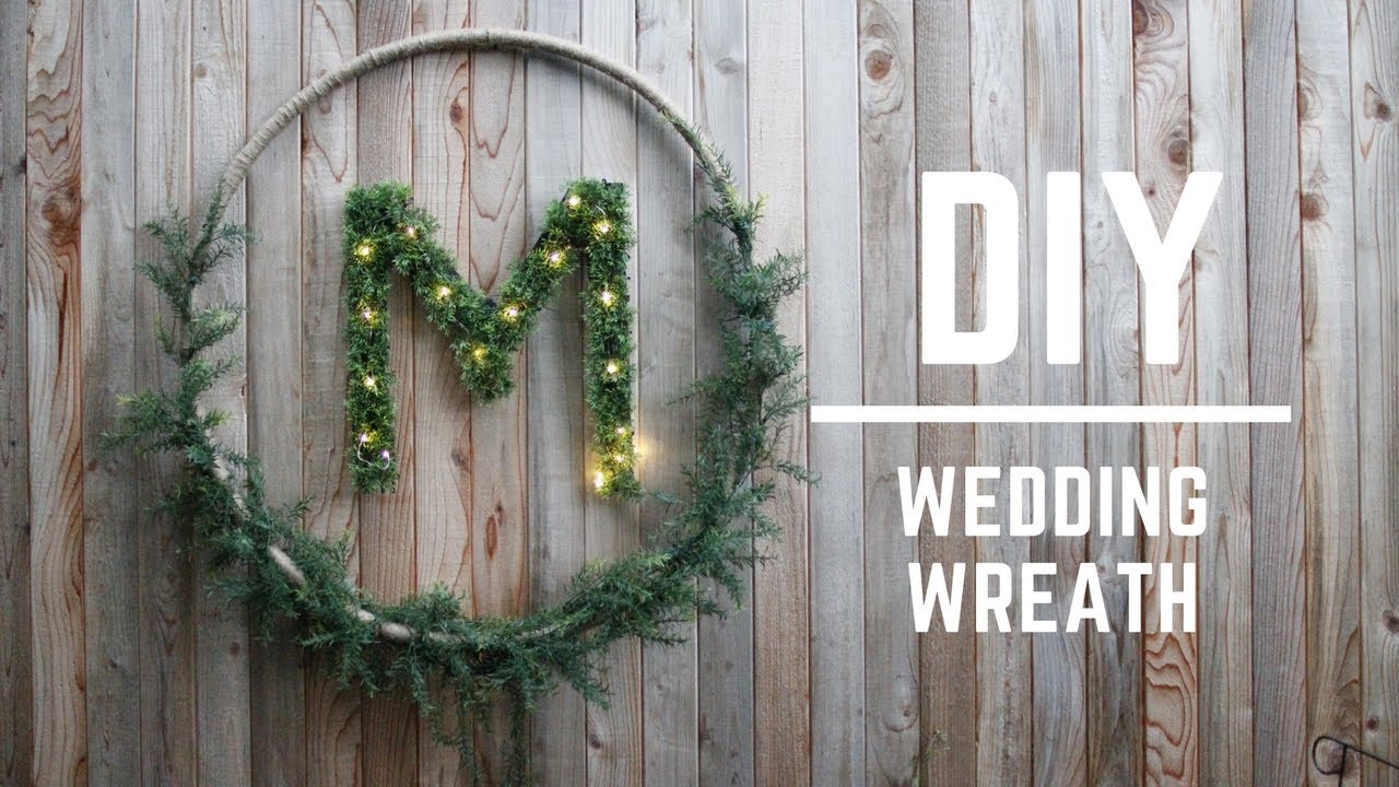 Diy wedding decor gorgeous wedding wreath youtube for Where can i buy wedding decorations