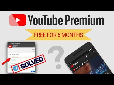 How to Get Free YouTube Premium Trial For 6 Months, debit/credit card error problem solved -in hindi