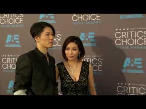 "Critics Choice Awards 2015: Takamasa ""MIYAVI"" Ishihara & Melody Ishikawa Red Carpet"