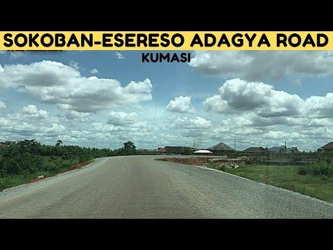Welcome to SOKOBAN! A Drive on the New Sokoban to Esereso Adagya road in Kumasi.