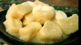Ленивые вареники с адыгейским сыром и брынзой (вкусный ужин за 5 минут).