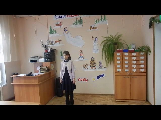 Изображение предпросмотра прочтения – ДианаДурнева читает произведение «Морозное утро» А.С.Пушкина