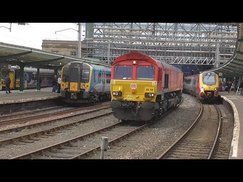 Busy Day at Carlisle station, 16/09/2017 | Steam Charter & HST Diverts!