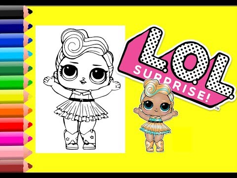 Lol Surprise Dolls Luxe Doll Coloring Pages For Kids | Lol Coloring Pages for Kids