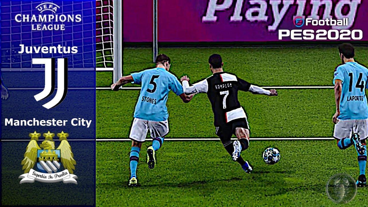PES 2020 • Juventus Vs Manchester City Champions League (Scoreboard) •  Patch [Giù]