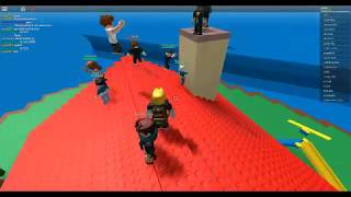 people jumping off of spawn in natural disaster survival | roblox