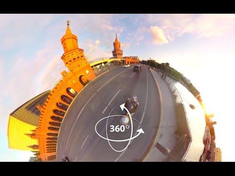 360°-VIDEO - East Side Gallery und Oberbaumbrücke