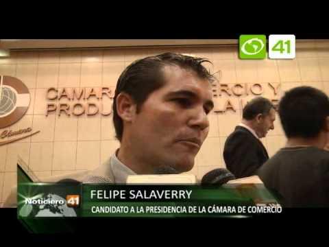 Felipe Salaverry presentó candidatura a la presidencia de la cámara de comercio - Trujillo