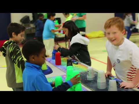 Raw Video: World Cup Stacking Record Attempt at Cater Elementary School