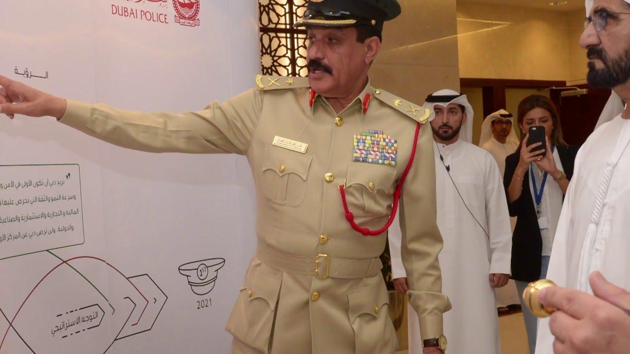 صاحب السمو الشيخ محمد بن راشد آل مكتوم يدشن الخطة الاستراتيجية لـ #شرطة دبي 2021