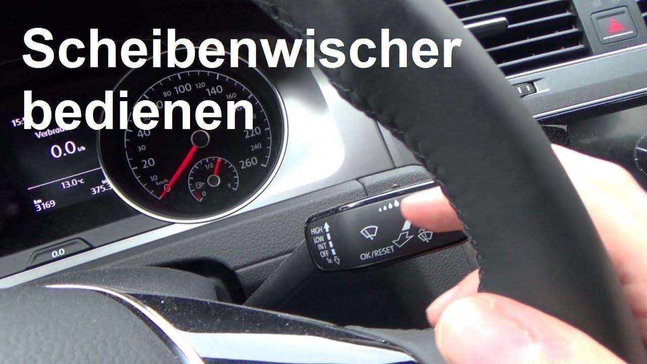 Autofahren lernen Scheibenwischer bedienen einschalten ...