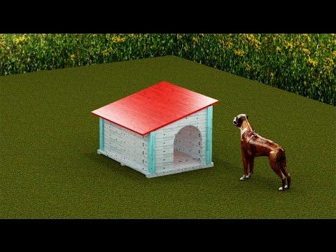 Casas para perros con palets doovi - Como hacer una casa de perro ...