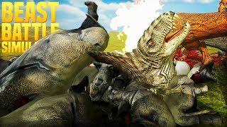 WORLD WAR BEAST, DINOS VS BEASTS FINALE! | Beast Battle Simulator [#4]