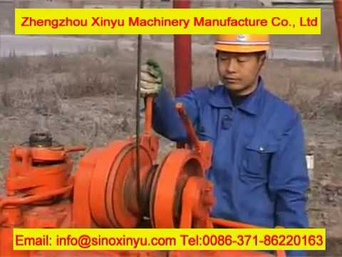 Hydraulic Well Drilling Machine Operation