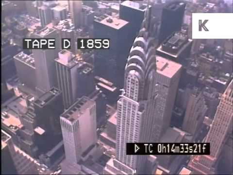 1980s New York Aerials, Manhattan Skyscrapers