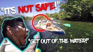 CLOSE CALL! NEARLY ATTACKED BY GATORS WHEN CANOE SINKS (WARNING: LOTS OF SCREAMING!) RPSTV