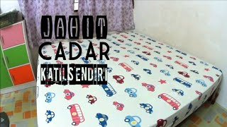 TUTORIAL MENJAHIT CADAR | CARA JAHIT CADAR | KING SIZE | DIY BED SHEET FITTED |#SISCUBA