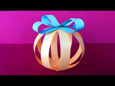 Christbaumschmuck basteln mit papier zu weihnachten o - Christbaumschmuck selber machen ...