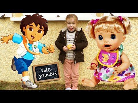 Retour de brocante N°27 : Baby Alive Go Diego Hello Kitty Shopkins (Unboxing)