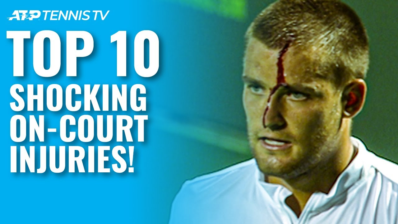 Top 10 Shocking On-Court Tennis Injuries!