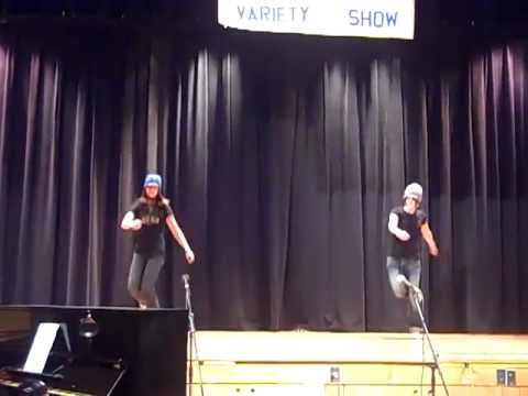 Ravers in the UK Jumpstyle at a Talent Show
