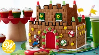 How to Make a Super Mario Gingerbread Castle | Wilton