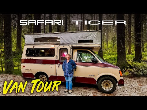 VANLIFE TOUR | Solo Woman in a Provan Tiger Chevy Astro Campervan Conversion