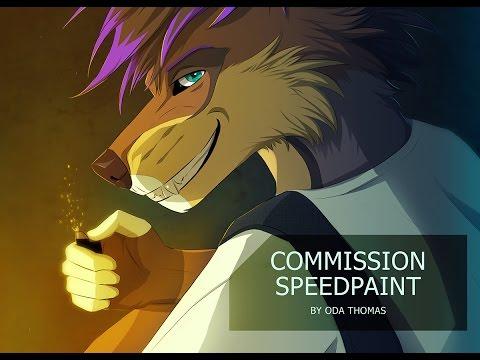 Commission speedpaint (wolf-anthro)