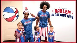 MEETING OUR FAVORITE HARLEM GLOBE TROTTERS!!