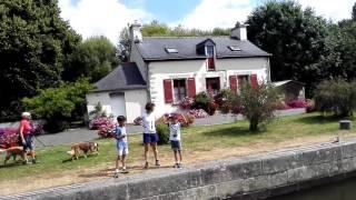 Canal Nantes-Brest (V). Como funciona una Esclusa.