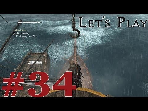 Let's Play Assassin's Creed IV: Black Flag (PS4) Part 34 Ship Boarding