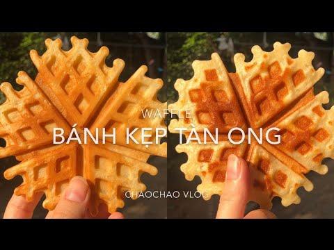 Làm BÁNH KẸP TÀN ONG | WAFFLE bằng khuôn truyền thống| Ăn Vặt | ChaoChao Vlog | 2020