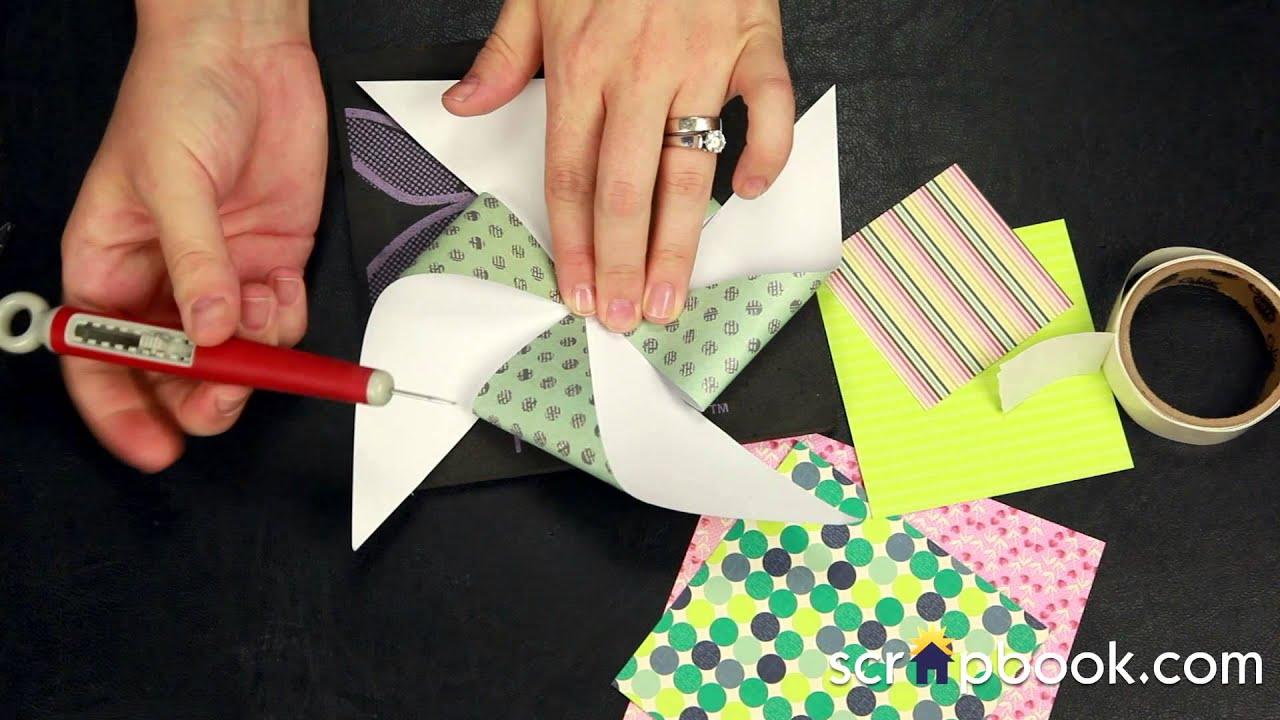 Create your own scrapbook - Create Your Own Pinwheel Embellishment Tutorial Scrapbook Com