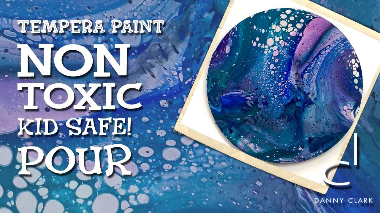 Non Toxic Tempera Paint Pouring That Is Fun For Kids Fluid Painting With Cells
