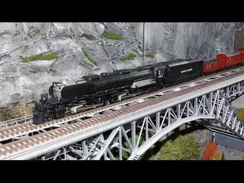 Trix 22115 Big Boy on a Model Railroad Train Layout