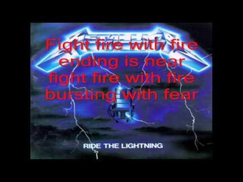 Metallica - Fight Fire With Fire (lyrics)
