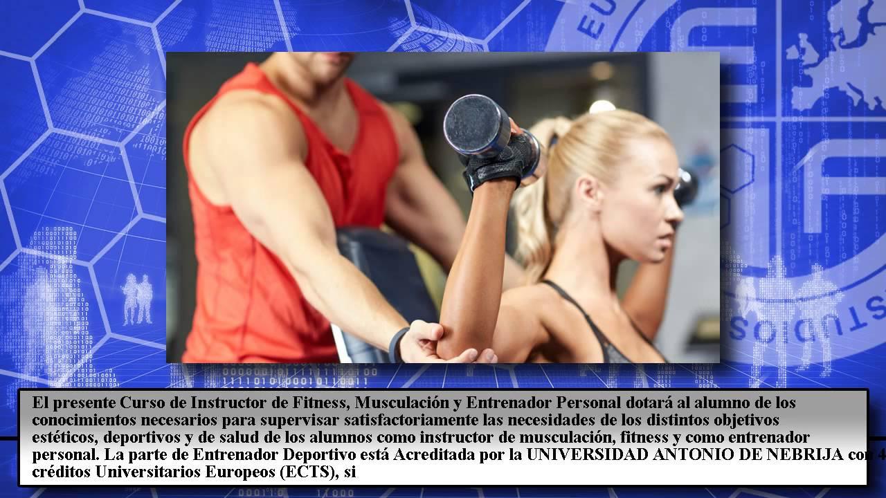 Instructor Fitness Musculacion Entrenador Personal - Cursos Online ...