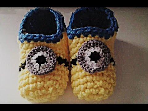 Zapatillas minion crochet (ganchillo) muy fácil y rápido
