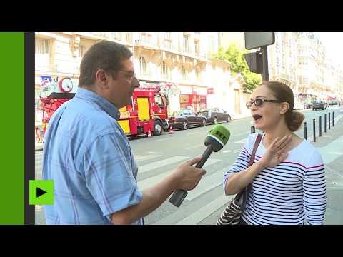 Quand les passants s'expriment sur les accusations de Macron contre RT