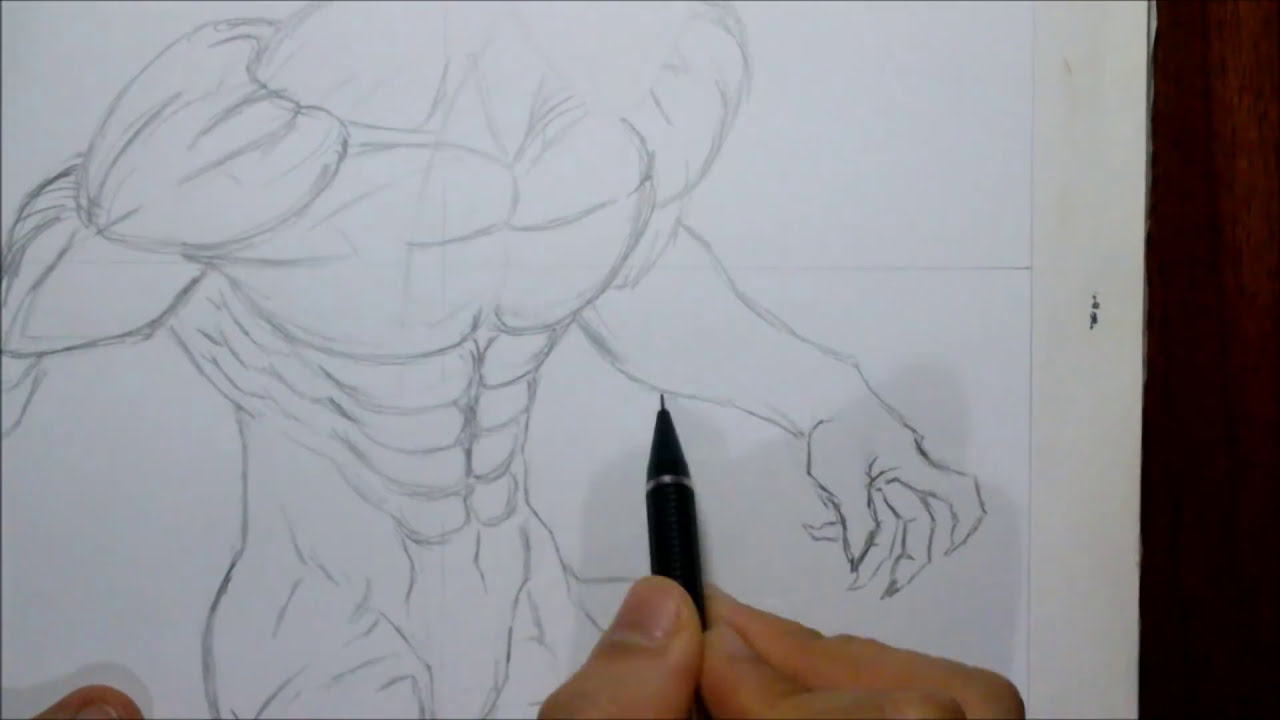 Dibujando A EREN TITAN. Speed Draw Eren Titan. Drawing