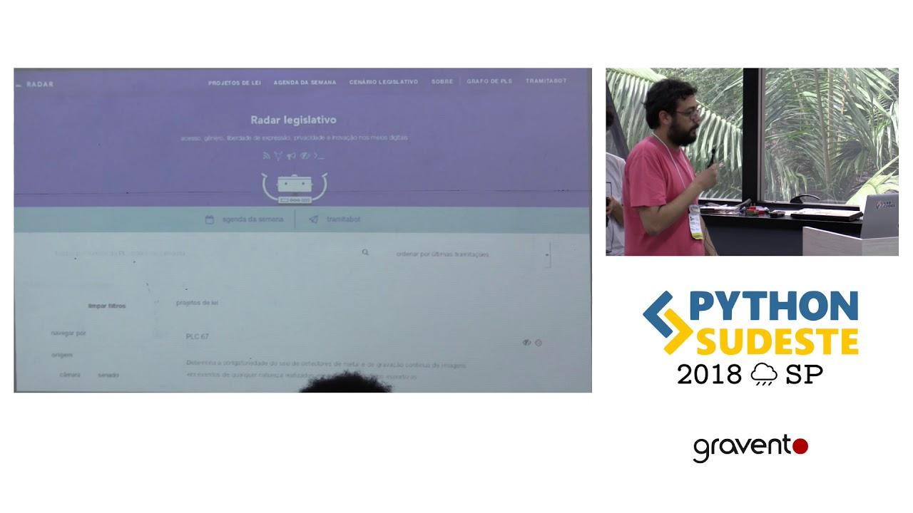 Image from [PySE2018] De olho no Congresso com Python e Dados Abertos