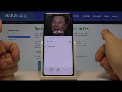 Как установить фото на контакт на HUAWEI Mate 20 Pro