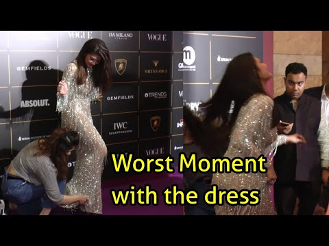 Jacqueline Fernandez CRIES, Faces Difficulty With Her Dress On Red Carpet