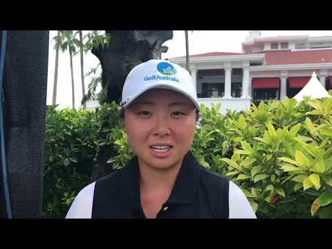 Robyn Choi after the 2018 Women's Amateur Asia Pacific