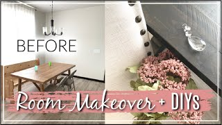 Room Makeover | DIY & Decorate With Me | Dining Room Makeover | Momma From Scratch